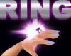 Amethyst Star Ring