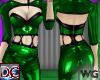 Cutout Pvc Catsuit Green
