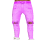 pink butterfly jeans