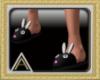 (AL)Black Bunny Slippers
