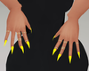 Yellow Stilleto Nails
