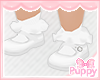 [Pup] White Mary Janes S