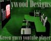 Green  Utube Player