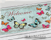 H. Butterfly Welcome Mat