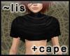 Short cape: black