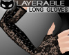 [SIN] Lacy Gloves Black