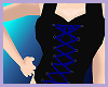 Blue and black Corset
