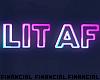 LIT Neon Sign