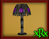 Glass Lamp Purple Rose