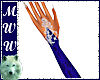 Blue/Silver Wed Gloves