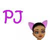 $PJ$ Purple Cat Ears Ani