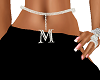 LETTER M BELLY CHAIN