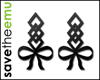 [E] Bow Earrings BLACK