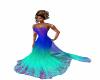 LS Blue Wedding Dress
