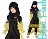Hijab in Black & Gold