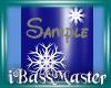 !BM!Blue Snowflake Nails