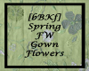[bBKf] FW Gown - Flowers
