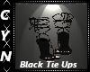 Black Tie Up Pumps