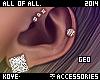  < Geo! Earrings!