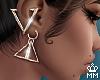 ℳ. Pyramid Earring G