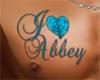 I <3 Abbey Tattoo