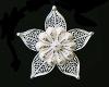 Silver Filigree flower