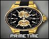 $) Gold & Black Rolex