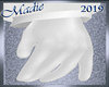 !b Men's White Gloves