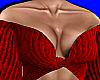 Red Knit Off Shoulder