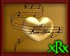3D Music Heart Gold Love