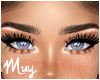 m. My full lashes +moles
