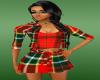 red schots dress