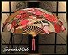 Asian Floral Wall Fan