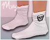 ! Skull White Socks
