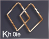 K kloe gold square hoops