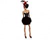 Rose dress black red