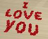 I LOVE YOU petals