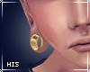 xHis| Ear Gauges . Gold