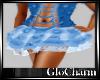 Glo* LaceyMiniSkirt~Blu