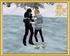 Couple Skate Kiss