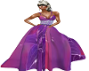 purple lily gown