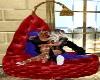 sofa redblu kiss kiss