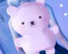 polar bear plushie bag