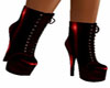 Ankle Red laced Pvc Boot