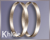 K olie bronze hoops