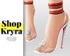 #K. Glass Strap Heels