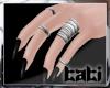 lTl Black Nails + Rings