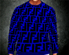 Blue FENDI-Sweater