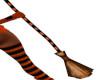 Halloween Broom Orange