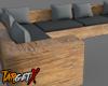 Wooden Corner Couch